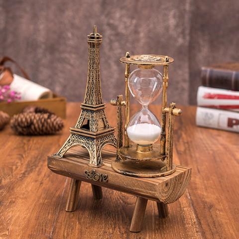Đồng hồ cát tháp Eiffel để bàn