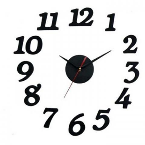 Đồng hồ dán tường DIY sáng tạo