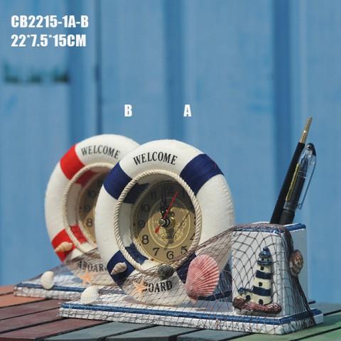 Đồng hồ để bàn phong cách Coastal biển cả