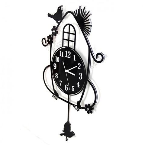 Đồng hồ treo tường nghệ thuật ngôi nhà thiên nhiên