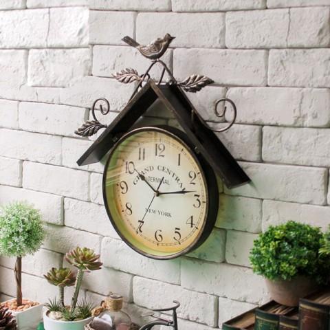 Đồng hồ treo tường phong cách Âu Mỹ hình tổ chim