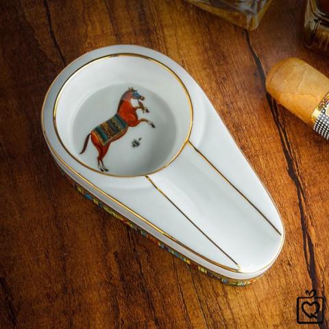 Gạt tàn xì gà Lubinski 1 điếu phong cách Châu Âu