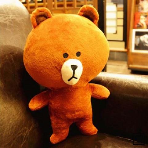 Gấu bông Line Brown