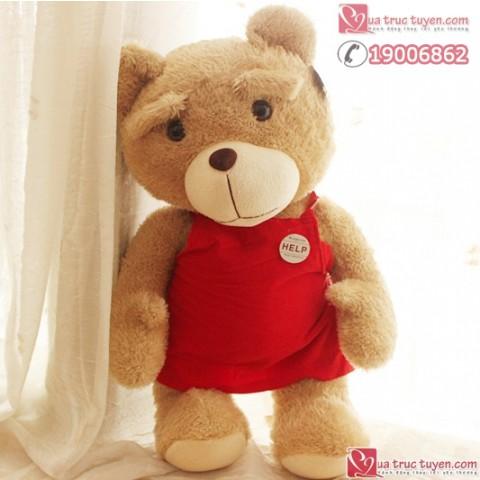 Gấu Ted mặc áo yếm-60cm