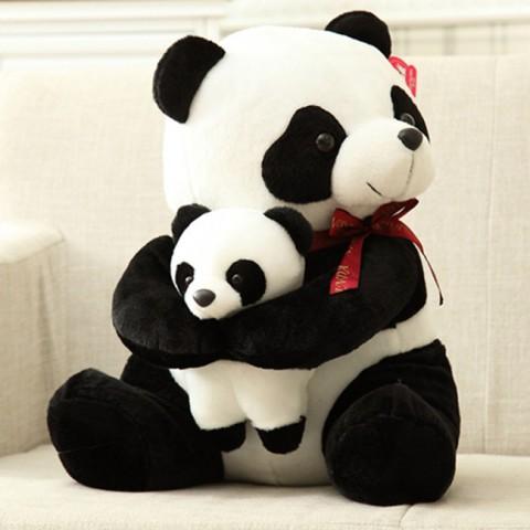 Gấu bông gấu trúc ôm con