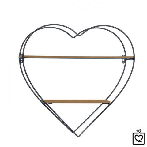 Giá trang trí treo tường hình trái tim
