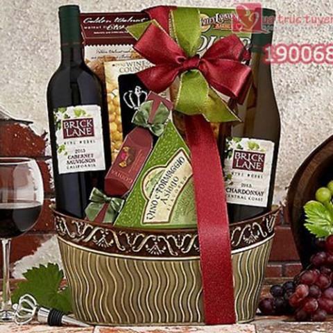 Giỏ quà tết Bricklane Wine Works Double Delight M764