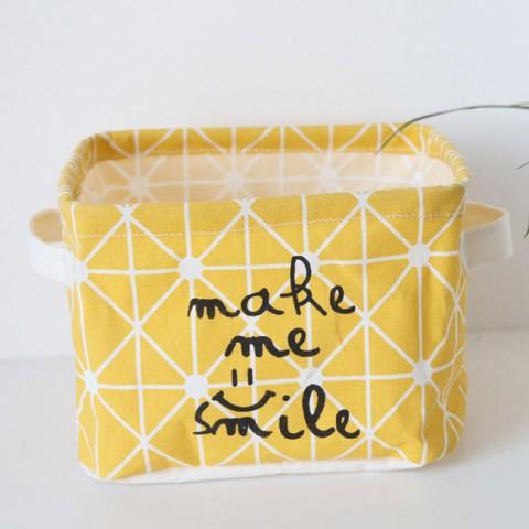 Giỏ đựng đồ vải hình vuông đa năng Smile