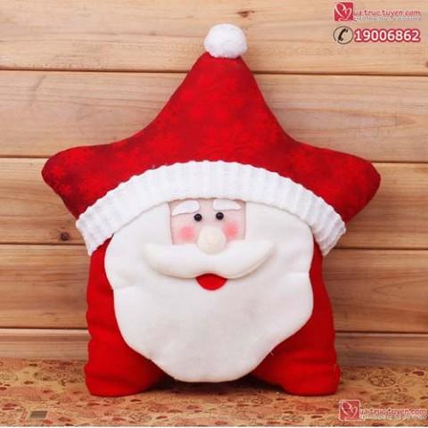 Gối Giáng sinh hình sao