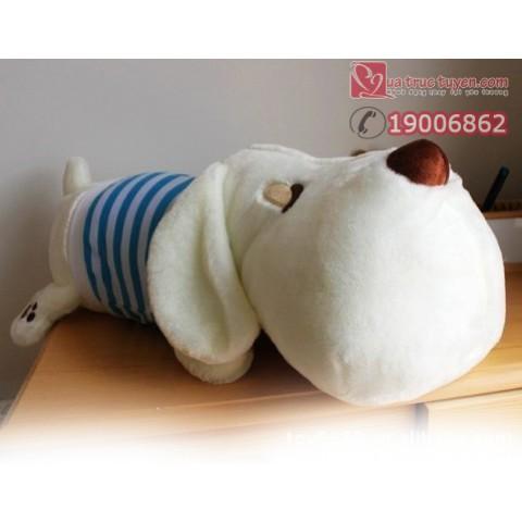 Chó bông đầu to-xanh-70cm