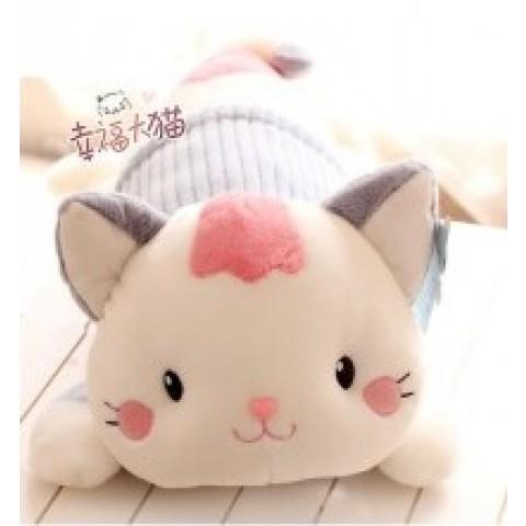 Mèo bông doodle gối ôm-xam-60cm