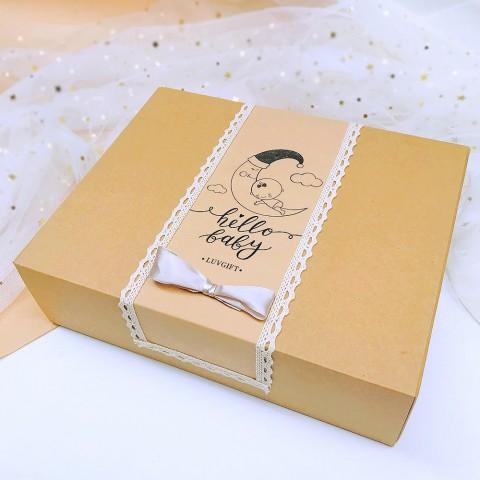 Quà tặng bé sổ nhật ký Hello Baby - Hộp Kraft