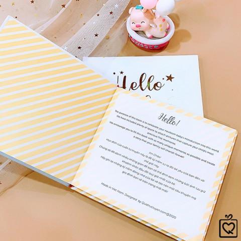 Sổ nhật ký cho bé Hello Baby - Lưu giữ những khoảnh khắc đầu đời đáng nhớ