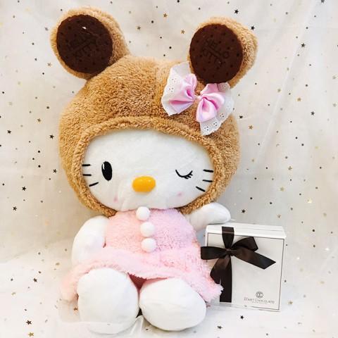 Quà tặng Gấu Hello Kitty và Socola