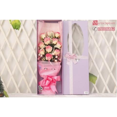 hoa hồng 11 bong mau tim