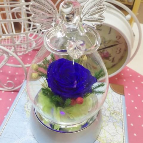 Hoa hồng bất tử - Hộp thiên thần phát sáng-xanh