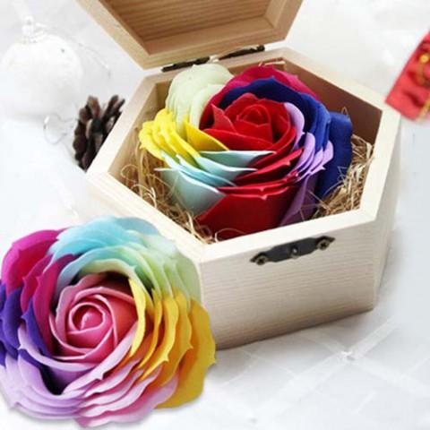 Hoa hồng sáp thơm phối màu