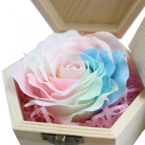 Hoa hồng sáp thơm phát sáng khắc thông điệp