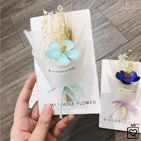 Hộp quà thiệp hoa khô A