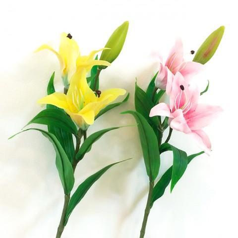 Cành hoa ly Pu 2 bông 1 nụ