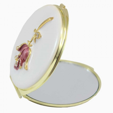 Gương trang điểm hình hoa hồng