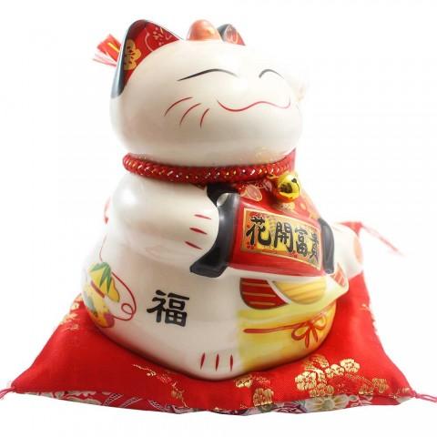 Mèo vẫy tay-Hoa khai phú quý SW357-19cm