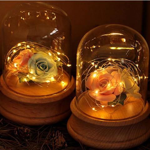 Hộp hoa hồng đèn dây tóc phát sáng độc đáo