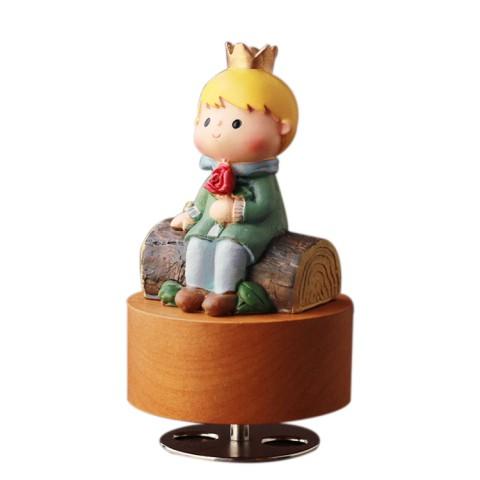 Hộp nhạc gỗ xoay tròn hoàng tử bé