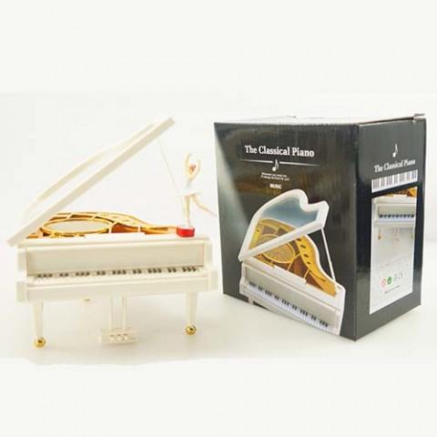 Hộp nhạc Piano vũ công dáng nằm