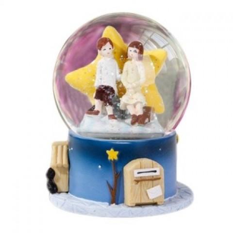 Hộp nhạc quả cầu thủy tinh mộng ước