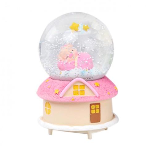 Hộp nhạc quả cầu tuyết - Heo sữa ngủ ngon