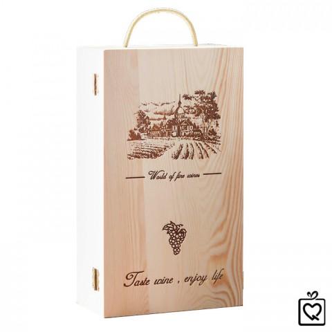 Hộp rượu gỗ khắc sang trọng - Đôi