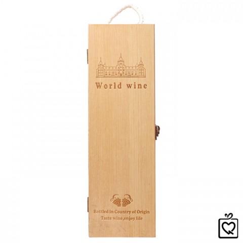 Hộp rượu gỗ khắc sang trọng - Đơn
