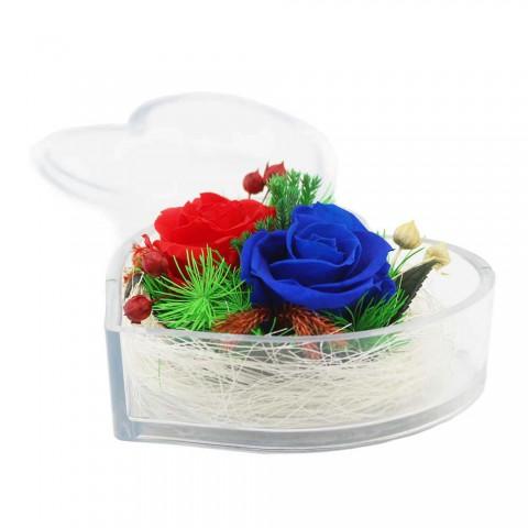 Hoa hồng bất tử - Hộp tim 2 bông hồng