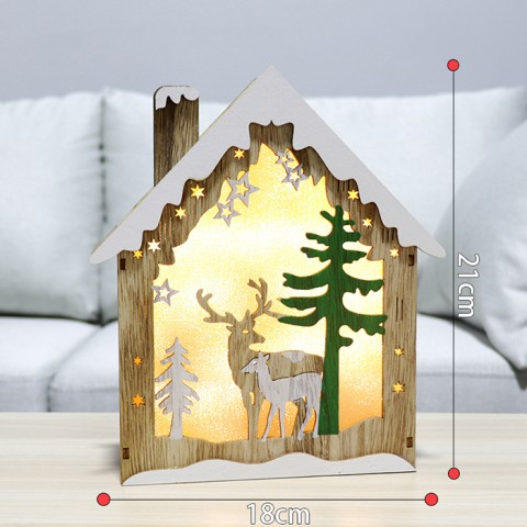 Hộp đèn trang trí ngôi nhà ấm áp