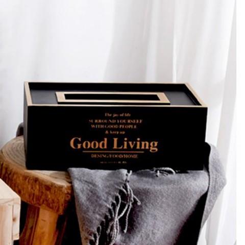 Hộp gỗ đựng giấy Good Living