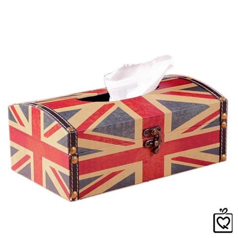 Hộp da đựng giấy kiểu quốc kỳ