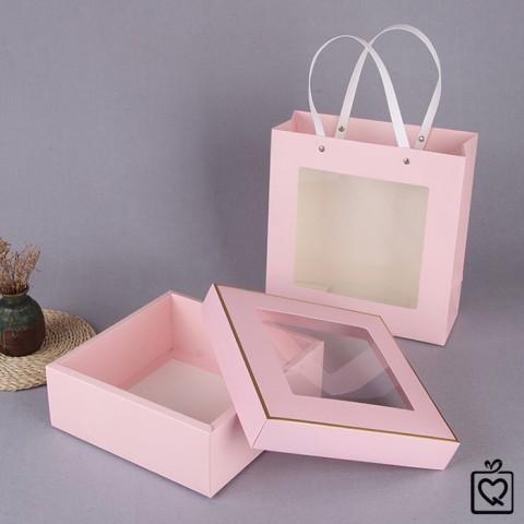 Hộp đựng quà, túi cửa sổ trong suốt quai nhựa