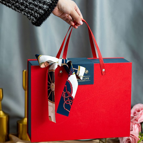 Hộp đựng quà kiểu túi xách size trung 27x9x21cm