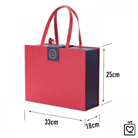 Hộp đựng quà kiểu túi xách size lớn 33x10x25cm