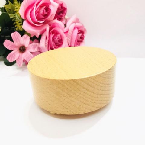 Hộp nhạc gỗ đế tròn