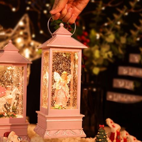 Hộp nhạc đèn măng xông phun tuyết kim sa - Xứ sở thần tiên