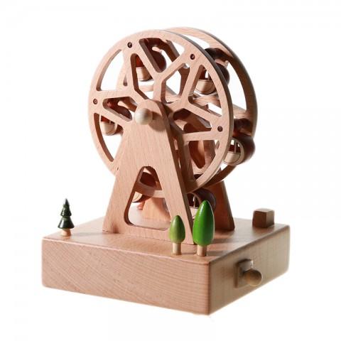 Hộp nhạc gỗ cao cấp-Vòng đu quay