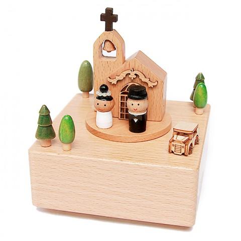 Hộp nhạc gỗ cao cấp-Lễ cưới nơi thánh đường