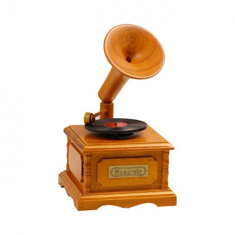 Hộp nhạc gỗ máy hát cổ điển