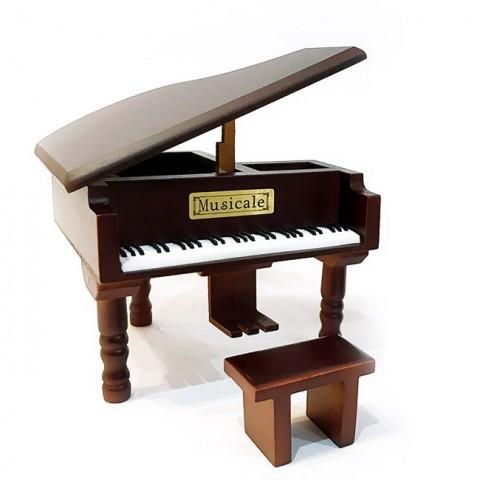 Hộp nhạc Piano gỗ cao cấp dáng nằm