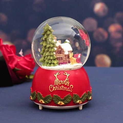 Hộp nhạc quả cầu tuyết Giáng Sinh - Ngôi Nhà Tuyết