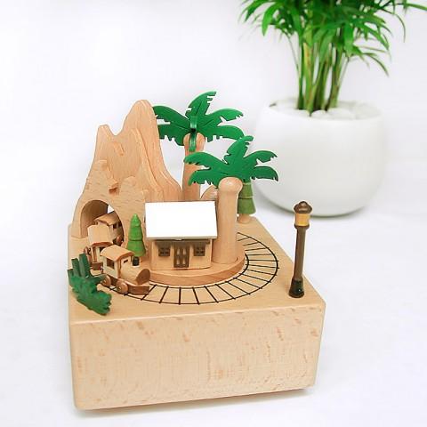 Hộp nhạc gỗ cao cấp-Tàu về quê hương