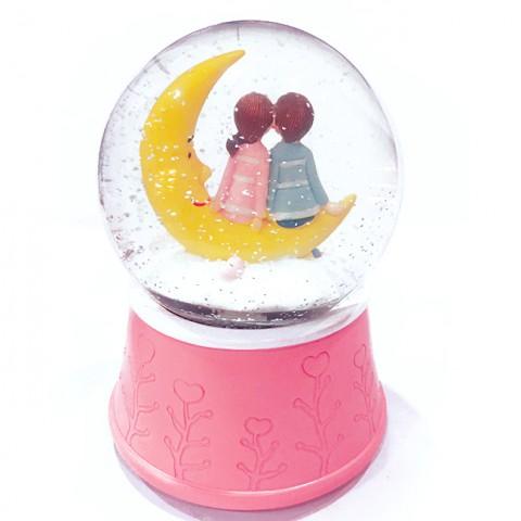 Hộp nhạc quả cầu tuyết Vầng Trăng Tình Yêu