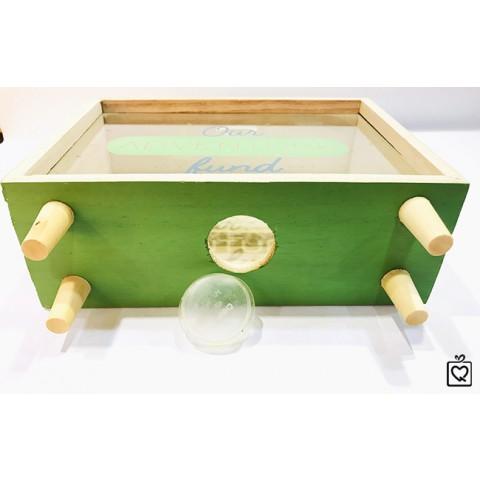 Hộp sưu tầm bằng gỗ mặt kính sáng tạo